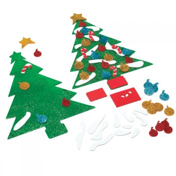 Foam christmas tree craft for Foam sheet christmas crafts