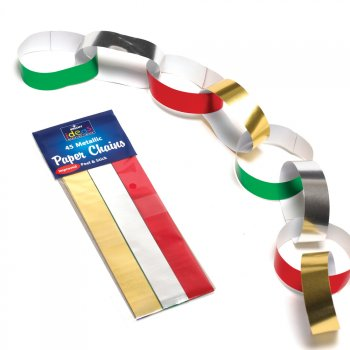 Metallic Paper Chains for Decorations