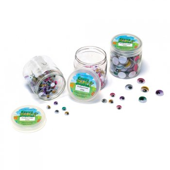 8mm Coloured Wiggle Eyes - 100 Pack