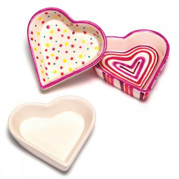 Miniature Heart Shaped Ceramic Dish