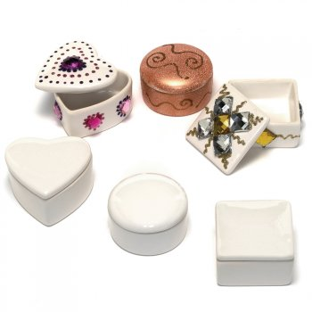 Porcelain Trinket Boxes Square