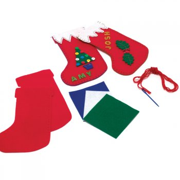 Felt Christmas Stocking Sewing Kit