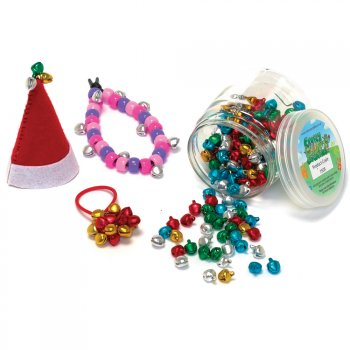 Mini Coloured Metallic Bells - 200 Pack
