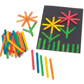 Pack Of 500 Coloured Lolly Sticks
