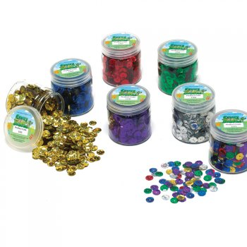 50g Jar Mixed Colours Holographic Sequins