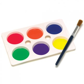 6 Well Plastic Paint Palette - 1 Supplied