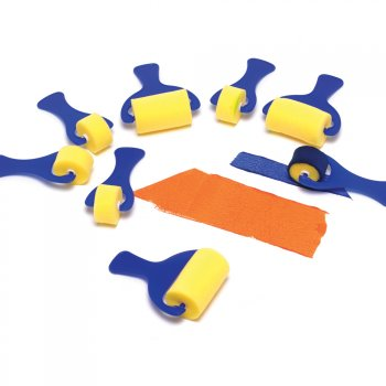 Set Of 2.5cm And 7cm Paint Rollers