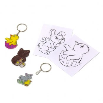 Easter Shrinkle Keyrings - 4 Pack