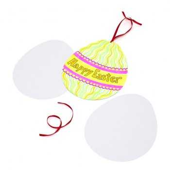 Giant Egg Shaped Card - 5 Pack