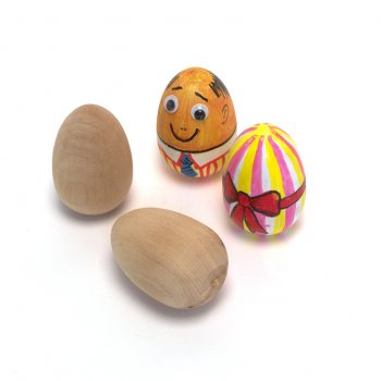 Solid Wooden Egg