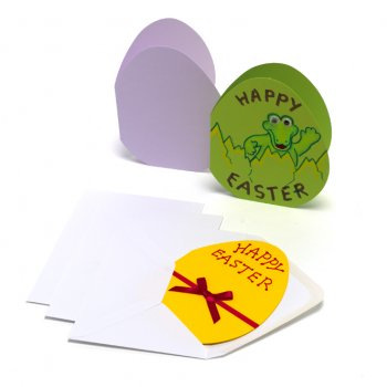 Coloured Easter Egg Greeting Cards