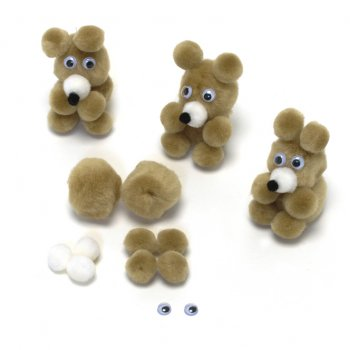 make your own teddy bear template - pom pom teddy bear kits create your own from crafty