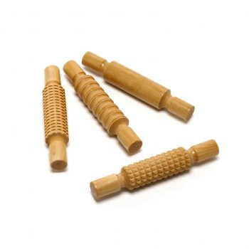 Wooden Rollers  (Set Of 4)
