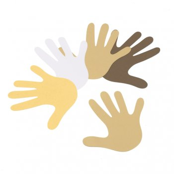Multicultural Hands Cut-outs - 16 Pack