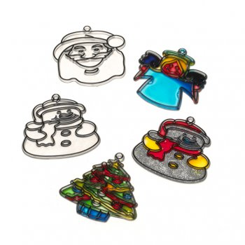 Christmas Suncatcher Set (set Of 4)