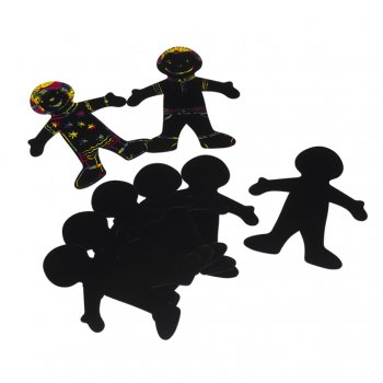 Scratch Art People (pack Of 4)
