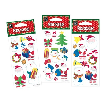 Christmas Santa Sticker Packs (30 Stickers)