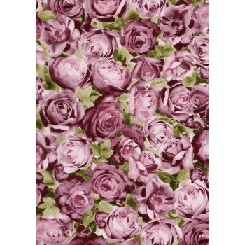 Decopatch Paper 459 - Half Sheet - Pink and Green Roses