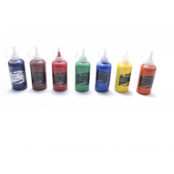 Acrylic Ready Mix Paint 6 Pack - Red,Yellow,Blue,Green,White,Black