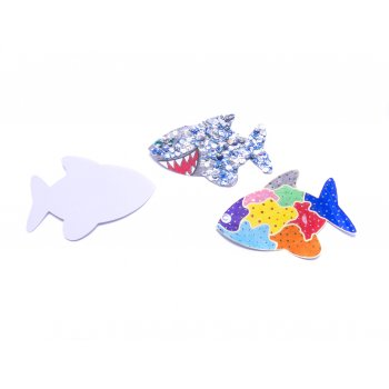 White Card Fish Cut Outs - Pack of 10