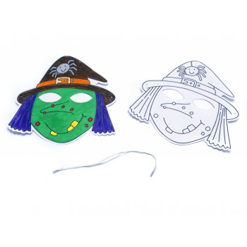 Halloween Masks - Witch - Pack of 5