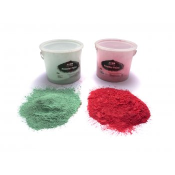 Large Powder Paint Tub - Green 2.5kg