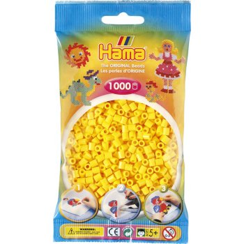 Hama Beads Solid Colours 1000 Pack - 03 Yellow