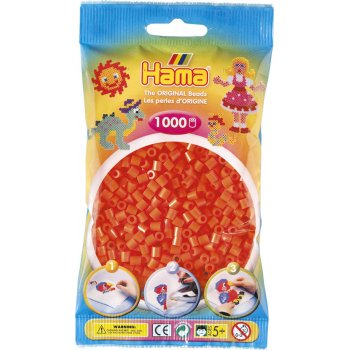 Hama Beads Solid Colours 1000 Pack - 04 Orange