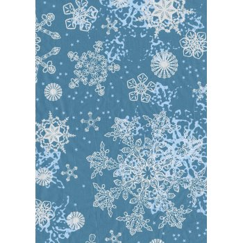 Decopatch Paper 521 Half Sheet (Blue/White Snowflakes)