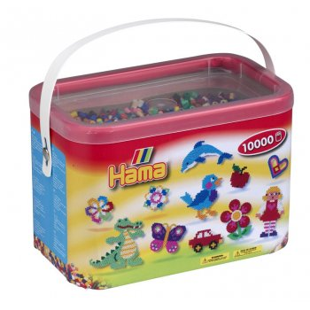 10,000 Bead Tub - Solid Colours