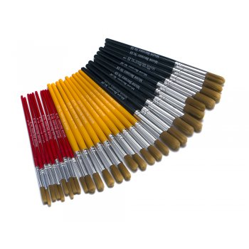 Nylon Short Round Multi Size Brush Pack