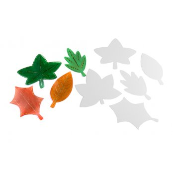 Autumn Card Leaf Cut-outs - Pack Of 10