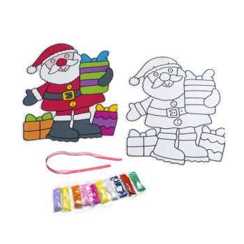 Father Christmas Hanging Sand Art - 1 Kit
