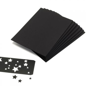 A2 Black Card 210 gsm- Pack of 50 Sheets