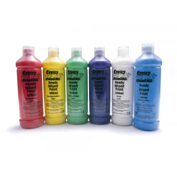 Ready Mixed Washable Paint Pack - 6 x 600ml