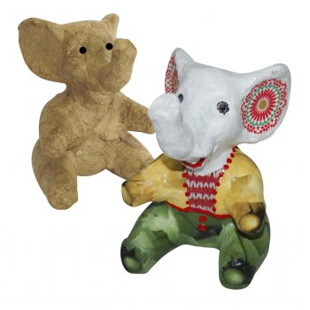 Paper Mache Extra Small Sitting Elephant - AP132