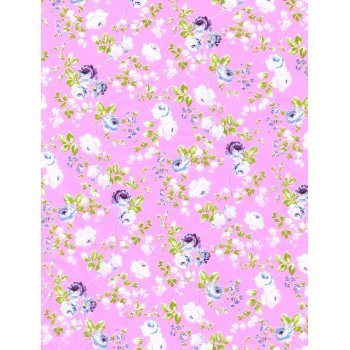 Decopatch Paper 562 - Half Sheet - Pale Pink Flowers