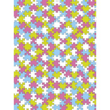 Decopatch Paper 624 - Half Sheet - Pink Jigsaw