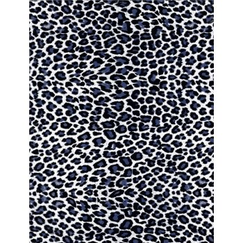 Decopatch Paper 614 - Half Sheet -Black & White Leopard Print