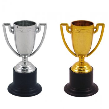 Mini Gold/Silver Trophy (10cm)