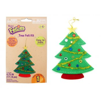 Felt christmas tree kit foam stickers sheets from for Foam sheet christmas crafts