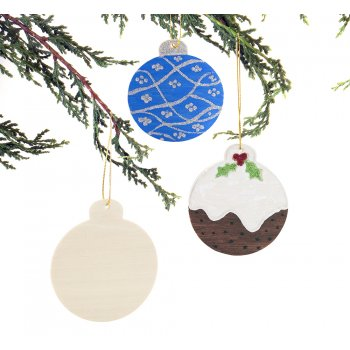 Wooden Hanging Bauble