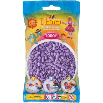 Hama Beads Solid Colours 1000 Pack - 45 Pastel Purple