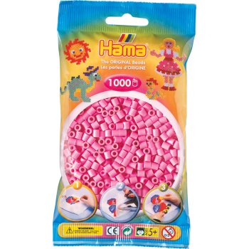 Hama Beads Solid Colours 1000 Pack - 48 Pastel Pink