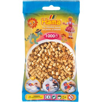 Hama Beads Solid Colours 1000 Pack - 61 Gold