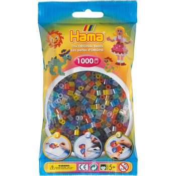 Hama Beads 1000 Pack - 53 Translucent Mix