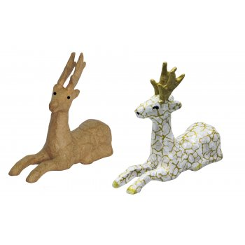 Decopatch Paper Mache Reindeer Laying Down - N0739