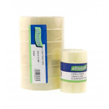 Easy Tear Sticky Tape 4 Pack - 19 x 33m