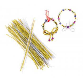 Gold And Silver Pipe Cleaners -Pack 100