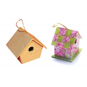 Miniature Paper Mache Bird Box